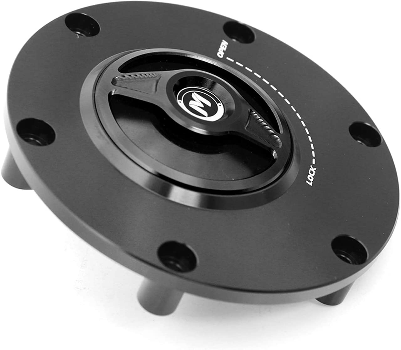 Quick Lock//Release Body-Handle-Cap = Black-Black-Black for Triumph Daytona T595 Blade Style Keyless Autobahn88 Motorcycle Fuel Tank Cap , All Year