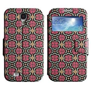 LEOCASE flor linda Funda Carcasa Cuero Tapa Case Para Samsung Galaxy S4 I9500 No.1004360