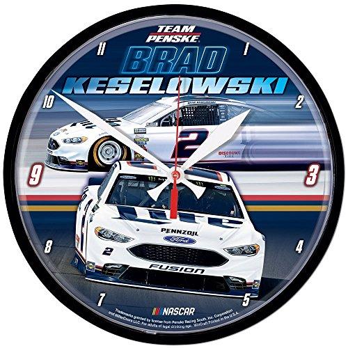 Wincraft Brad Keselowski 2018 Miller Lite NASCAR Round Wall Clock from Win craft