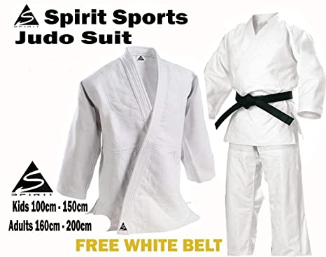 JUDO GI//UNIFORM for KIDS made of 100/% Cotton comes with Trouser and White Belt