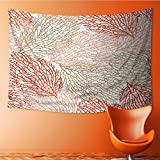SOCOMIMI Elastic Fabric Tapestry,coral seamless vector pattern bright cheerful summer pattern for textiles pillow Home Decor(36W x 24L INCH)