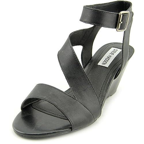44fa7b8dab61 Steve Madden Stipend Women US 5.5 Black Wedge Sandal  Amazon.ca  Shoes    Handbags