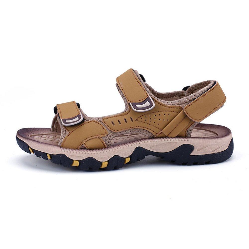Sandalias De Los Hombres del Verano Zapatos De Playa Ocasionales Respirables De Velcro Zapatos De Los Hombres De La Moda 40 EU|Yellow