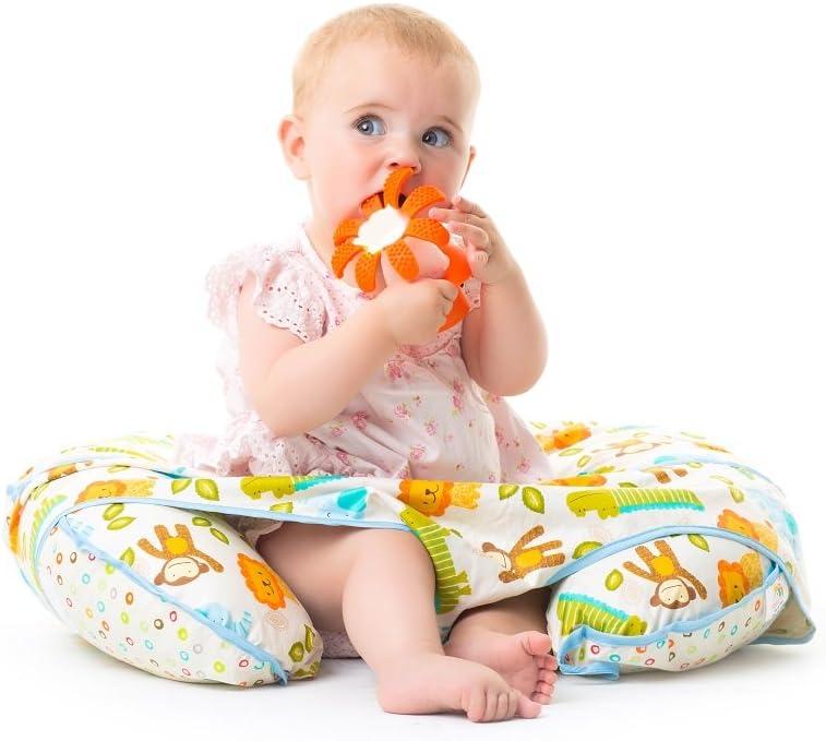 de algod/ón de alta calidad Coj/ín de lactancia 4 en 1 minialmohada y arn/és para beb/és incluidos  amarillo amarillo