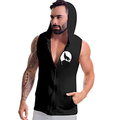 87e37e781f81f Amazon.com  Men s Sleeveless Hoodie