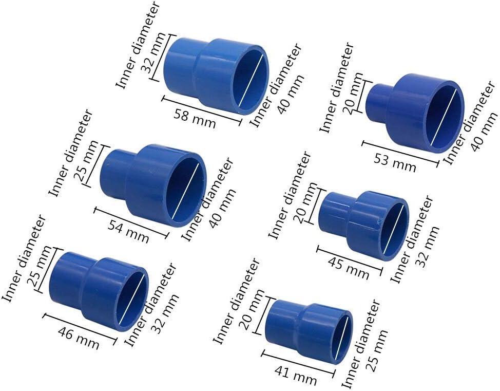 Fashion SHOP Raccords de tuyauterie 25 /à 20 mm 40to 32mm 40//32-20 25mm PVC Droite r/éduction de connecteurs Tuyau R/éducteur Adaptateur deau dirrigation raccords de tuyauterie 1Pc Connexion