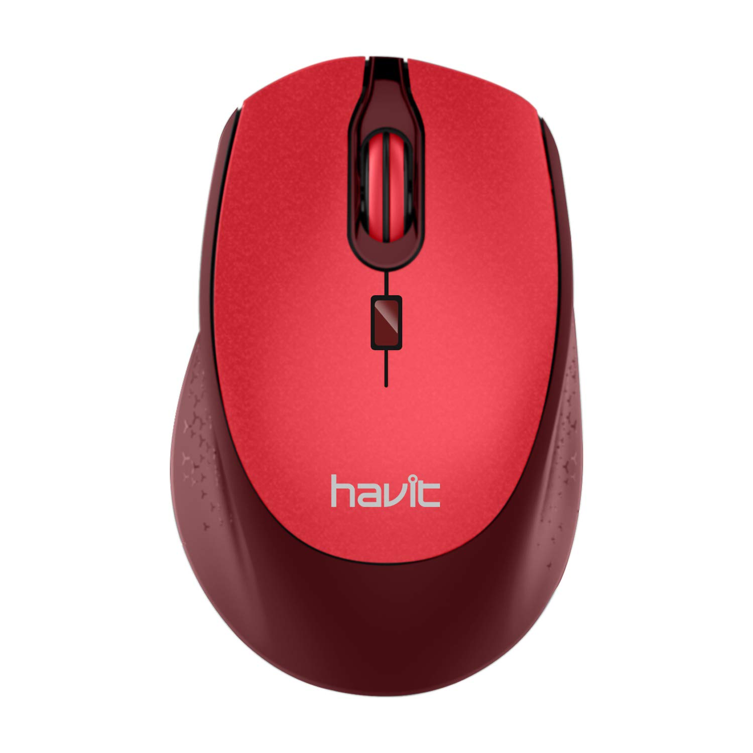 Havit 2.4G Wireless Mouse 2000DPI Optical Mini Portable Mobile with USB Receiver, 3 Adjustable DPI Levels, 4 Buttons for Notebook, PC, Laptop, Computer, MacBook (Black) HV-MS56GT black