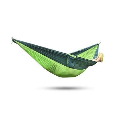 2personnes Couleurs assorties de tissu en nylon de parachute Hamac–Dasyatis Vert et vert pomme Poids léger multifonctionnel avec solide Corde