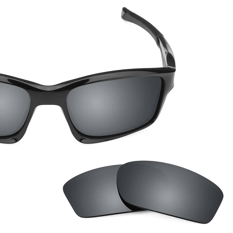 ad215b8269a6 Amazon.com  Revant Polarized Replacement Lenses for Oakley Chainlink Elite  Black Chrome MirrorShield  Sports   Outdoors