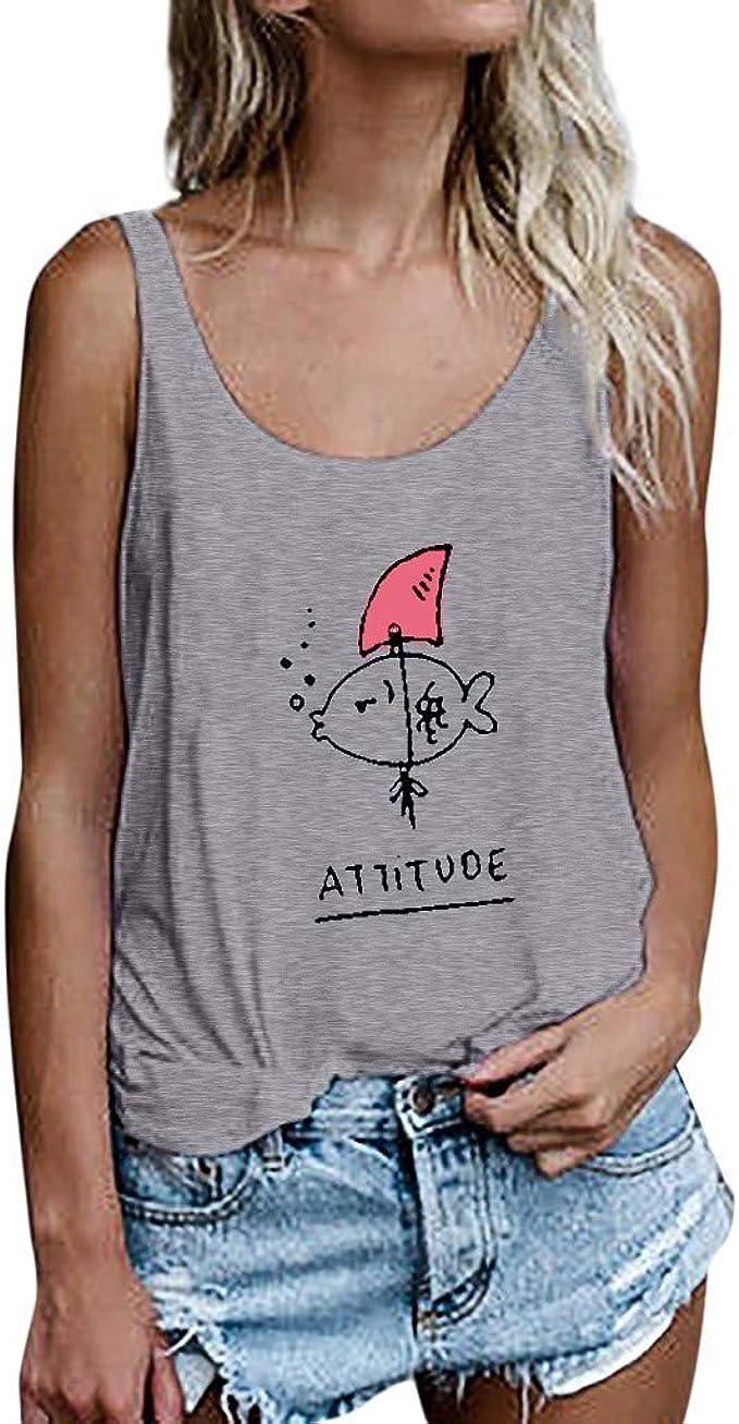 Frauen Damen Sommer ärmelloses Trägershirt Lose Tanktop T-Shirt Shirt Freizeit