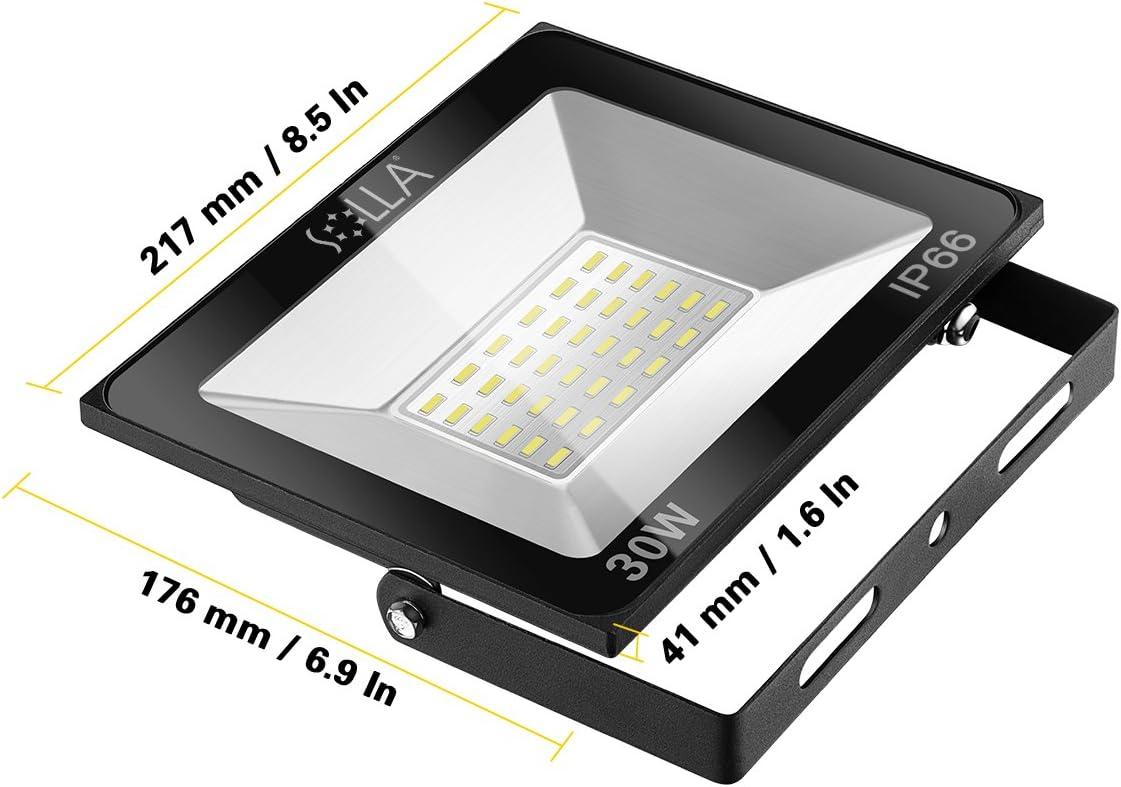 Paquete de 2] Luz de Inundación de 30W LED,Luz de Seguridad para ...