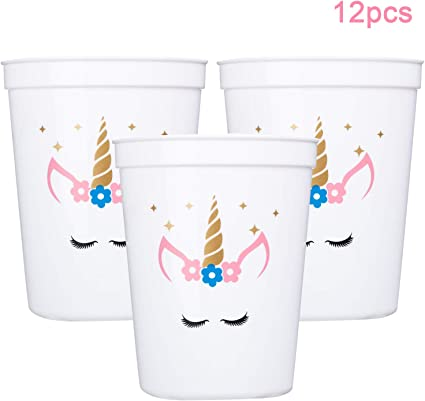 Amazon.com: Miss Fantasy - Vasos de unicornio (12 unidades ...