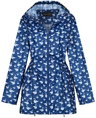 Manteau Print Swan Imperméable Femme Raindrops By Finesse qBwYHHE