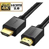 HDMIケーブル 1.5m/2m/3m HDMI2.0規格 ハイスピード 18Gbps 4K@60Hz/ARC/HDR/3D/イーサネット対応 テレビ,PS4/3,Xbox,Nintendo Switch,Apple TV,Fire TVなど適用 (1.5m, 基本型)