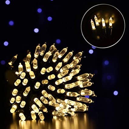 quality design 95da9 315d6 Fiee 49FT 150LED 4.5V 8Modes String Lights Waterproof Mini Fairy Green  Cable with Memory for Christmas Garden Home Bedroom Party Wedding Patio  Outdoor ...
