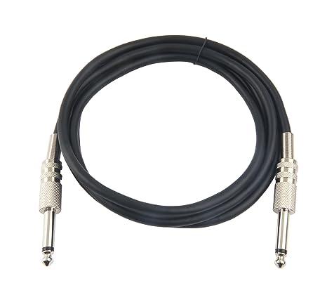 Devinal - Cable de instrumento para guitarra profesional, 6,35 mm, 1/4 TS, mono, cable de ...