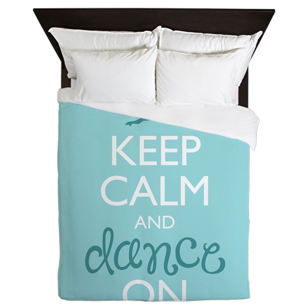 CafePress Keep Calm and Dance On Queen Duvet Cover, Printed Comforter Cover, Unique Bedding, Microfiber