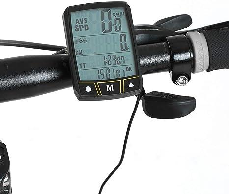 Mini GPS Bici De La Computadora, La Pantalla LCD del Velocímetro del Odómetro Retroiluminación LED, A Prueba De Agua Bici De La Computadora Y Odómetro De La Bicicleta,Wireless: Amazon.es: Deportes y aire