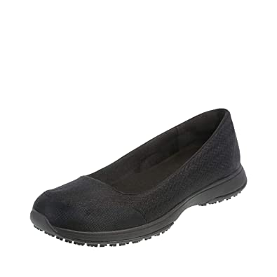 ada7d53e209 safeTstep Black Women s Slip-Resistant Gem Athletic Flat 5 Regular