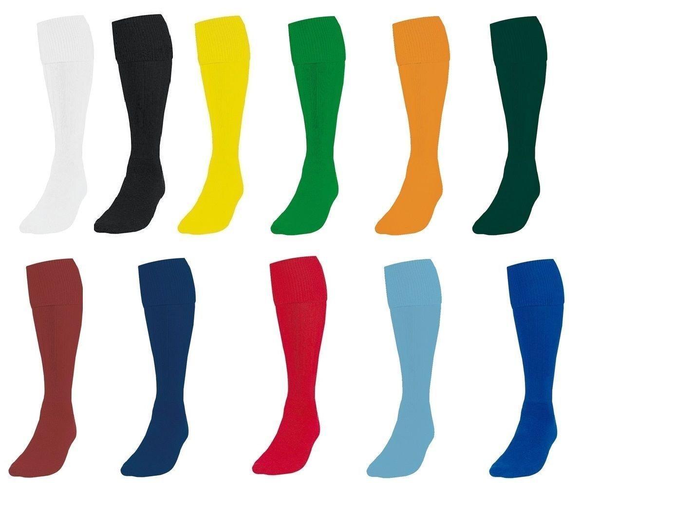 3-6 New Football Socks Soccer Hockey Rugby Sports Socks PE Mens Womens Red, Large Boys//Youth