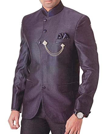INMONARCH Hombres 4 pc Vino Morado Traje Esmoquin Fascinante ...
