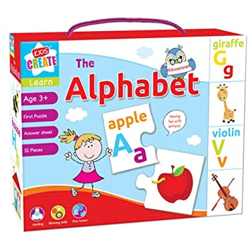 Childrens LETS LEARN Alphabet Numbers Spelling Time Puzzle Kids ...