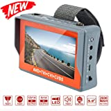 [Upgrade Version] Electop Wrist CCTV Tester, 5 Inch 4 in 1 HD 1080P Portable Camera Tester AHD TVI CVI CVBS Tester VGA TFT LCD Monitor Analog Video Test Cable Test PTZ Control 12V Power Output
