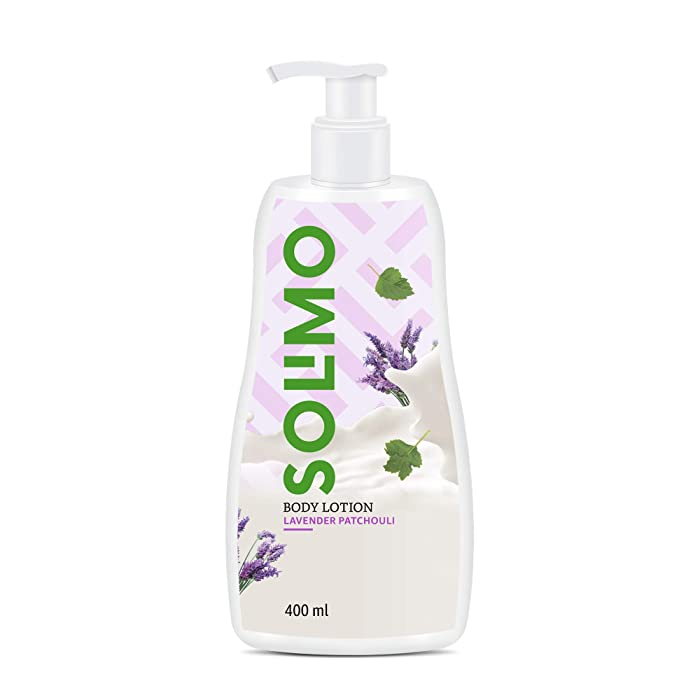 Amazon Brand - Solimo Lavender Patachouli Body Lotion, 400 ml