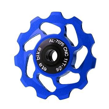 Cerámica Y56 11T rodamiento rueda Jockey desviador polea para bicicleta de carretera de bicicleta, azul, S: Amazon.es: Deportes y aire libre