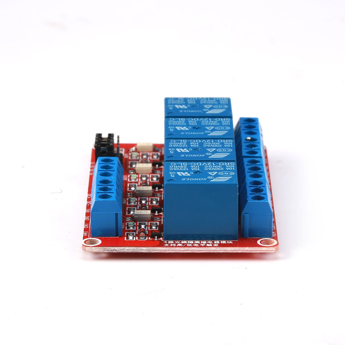 Geri 12v 4 Channel Relay Module With Optocoupler H L Level Triger Dc5v To Dc30v Converter By 74hc14 For Arduino