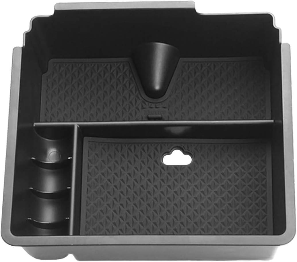Accoudoir Bo/îte de Rangement Gants Organisateur de Palette Support Centre Console Conteneur dInsertion Plastique ABS Noir Pi/èces de Voiture Accessoires Pour XV Crosstrek 2012 2013 2014 2015 2016