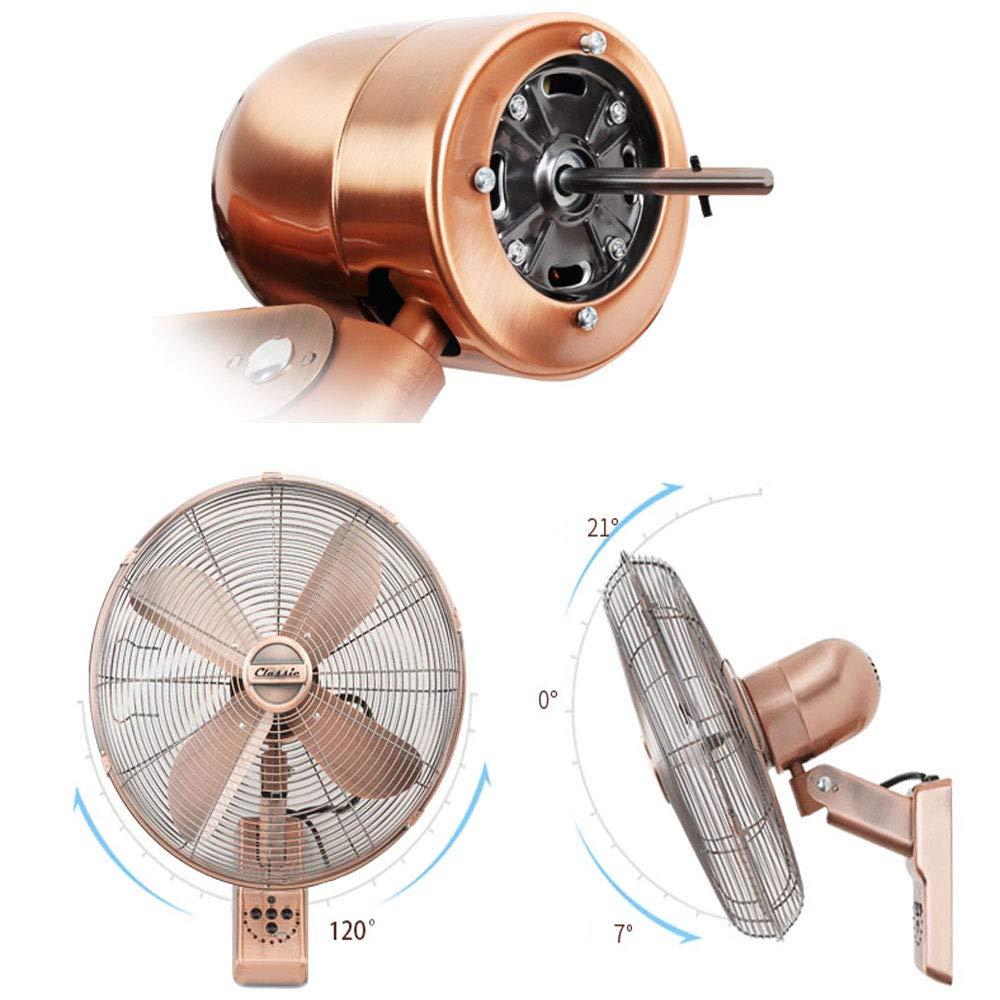 Oscilante Mando A Distancia Y Temporizador 16 Pulgadas Wall Fan ALY/® Ventilador De Pared De Metal Vintage 50w Silencioso