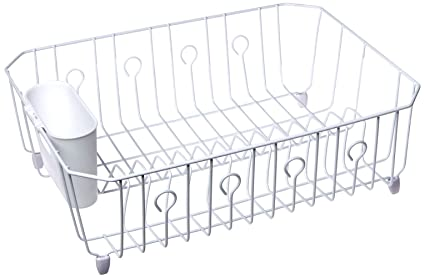Rubbermaid Dr FBA 6032-AR-WHT 6032ARWHT Large White Dish Drainer ... 716bce802b14