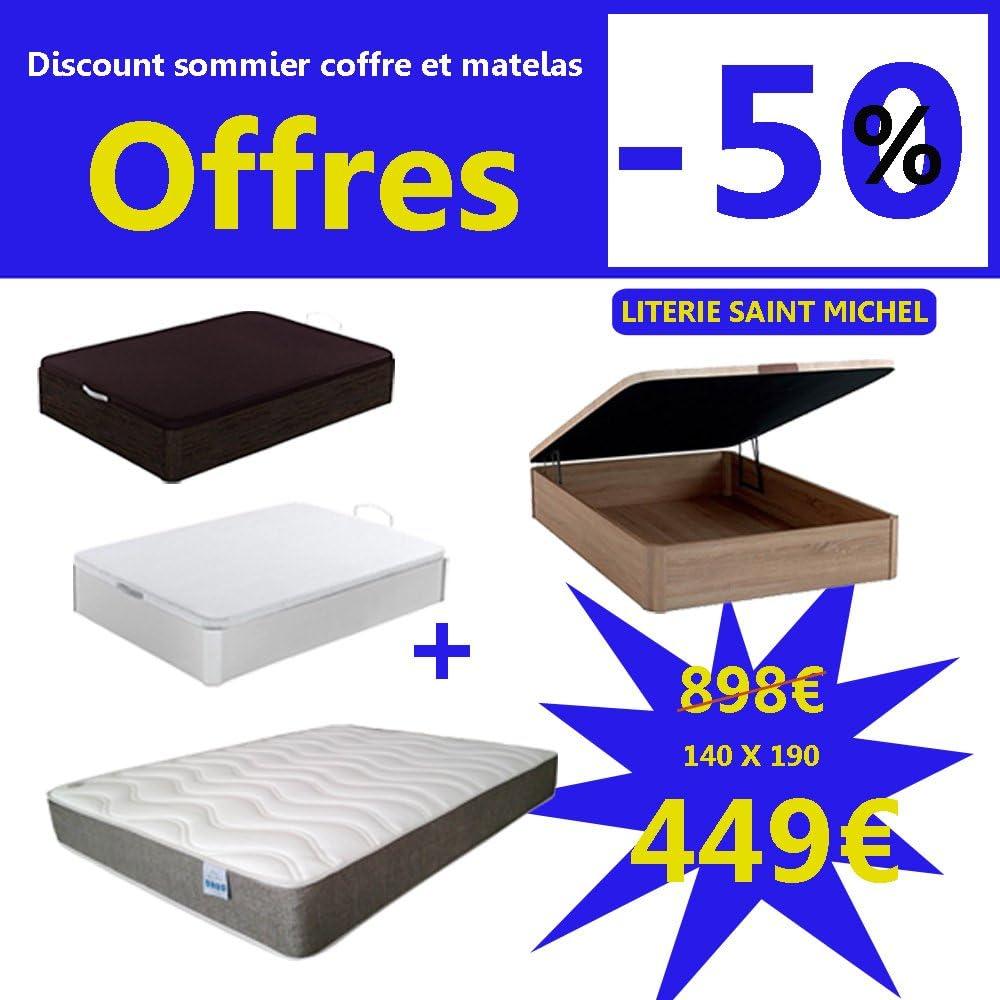 Literie Saint Michel Somier Cama baúl y colchón Ofertas 449 ...