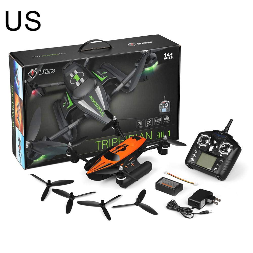 Blueyouth Quadcopter - Q353 Triphibian Waterproof 2.4G 6-Axis Gyro Air-Ground-Water RC Quadcopter Headless Mode RTF Drone