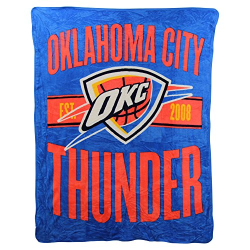The Northwest Company NBA Clear Out Super Soft Plush Throw Blanket (Oklahoma City Thunder) ()