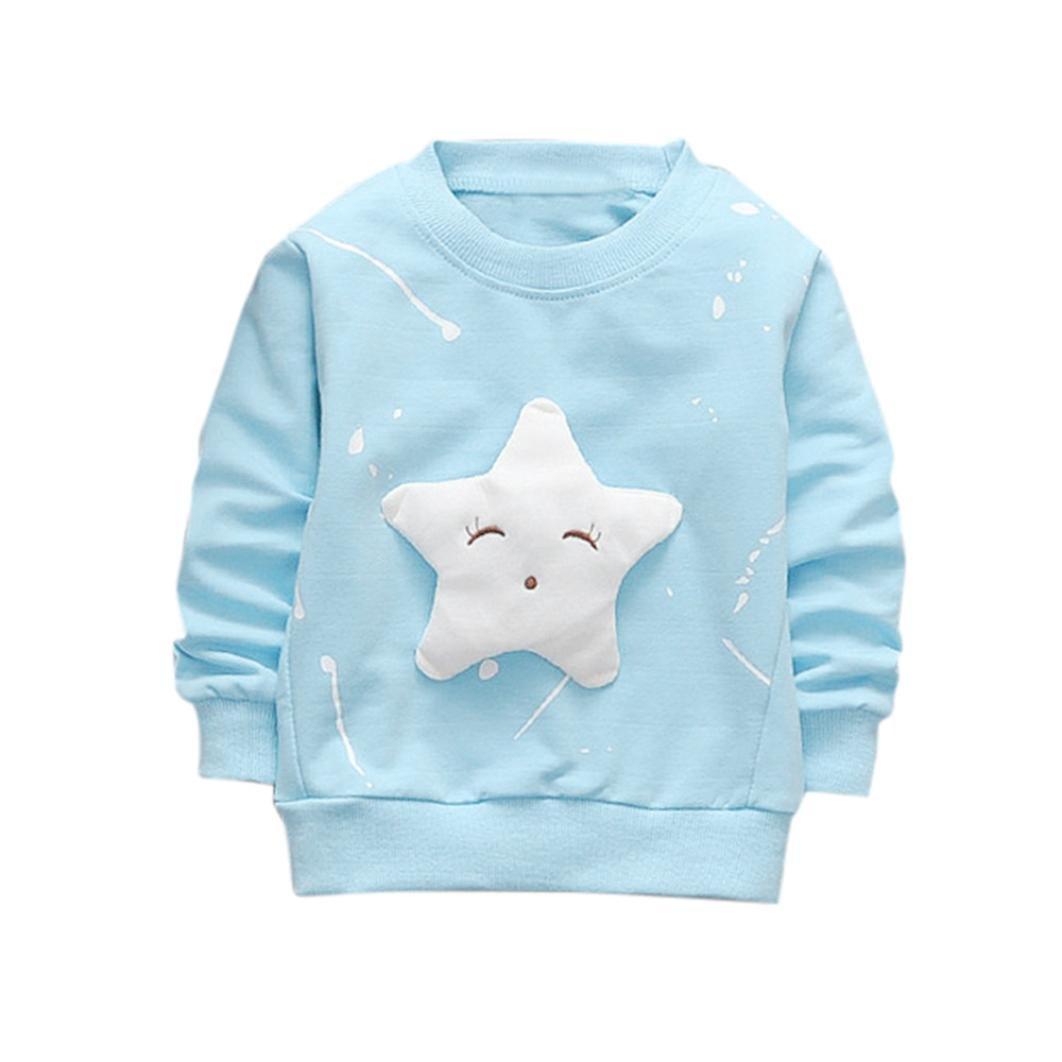 ❤️Kobay Junge Mädchen Baby Outfits Kleidung InfantStar Gedruckte Baumwolle Lange Ärmel T-Shirt KOBAY-Zu den Kindern gehören