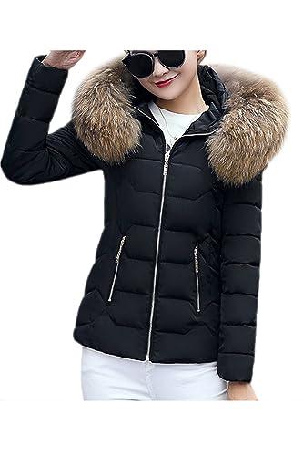 La Mujer Casual Warm Faux Fur Forrado Con Capucha Abrigos Abajo Outerfit Corto Parkas Puffer
