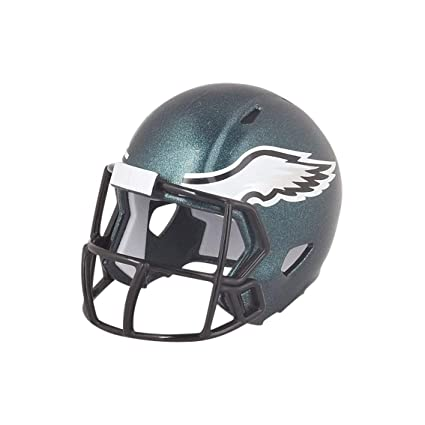 b4f64db99eb Image Unavailable. Image not available for. Color: Philadelphia Eagles NFL Riddell  Speed Pocket PRO Micro/Pocket-Size/Mini Football Helmet
