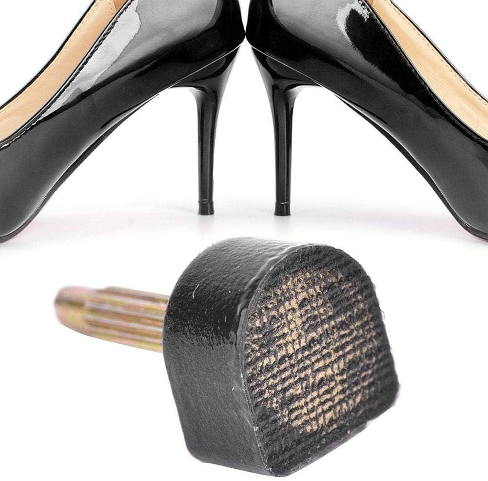 604 Accessoires de r/éparation de Chaussures Chaussures Talon Clous Goujon Noir U-Forme Noir r/éparation Conseils de Remplacement 10MMx11MM Sheens 20PCS Conseils de Remplacement de Talon Haut