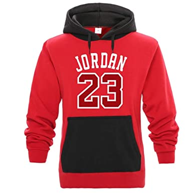Jordan 23 Hooded Sweatshirt Mens Hoodie Tracksuit Sweat Coat Sportswear Hoodies Red Black
