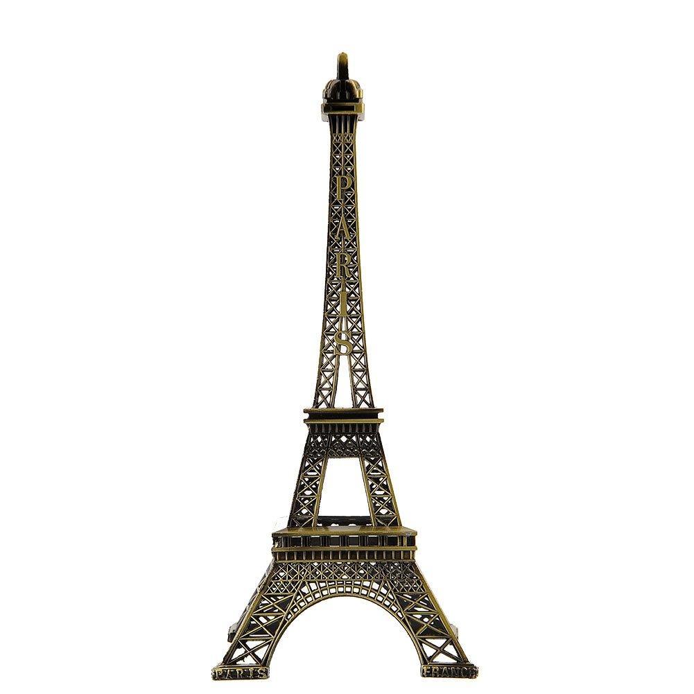 Forfar Eiffel Tower Figurine 25cm Bronze Tone Metal Paris Eiffel_Tower Figurine Statue Office Home_Decors Antique Imitation_Model Souvenir