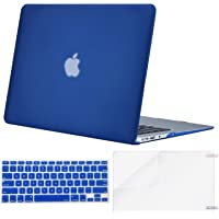 MOSISO MacBook Air 13 Inch Case A1369 & A1466,Plastic Hard Case & Keyboard Cover & Screen Protector Only Compatible with MacBook Air 13 Inch (Older Version 2010-2017 Release), Blue