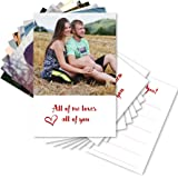 Clixicle Customized Love Cards - Set of 9 Cards - Gift for Valentine, Friend (White)
