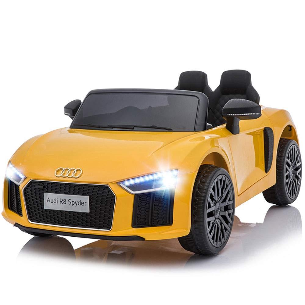 Bseion Audi R8 Veicolo elettrico per bambini a quattro ruote motrici telecomandate a doppia trazione per auto giocattolo per bambini auto doppia disponibile con telecomando Veicolo e ragazze regali pe