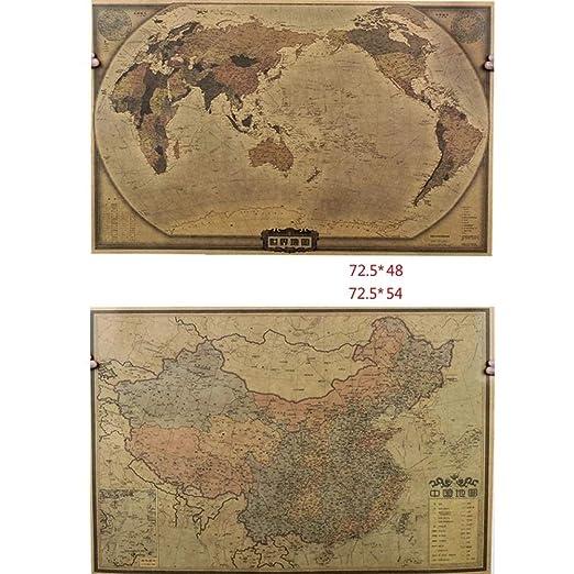 Mapa Retro Náutico Inglés Mapa Del Mundo Sobredimensionado ...