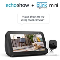 Deals on Amazon Echo Show 5 w/Blink Mini 1080p Smart Security Camera