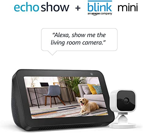 Echo Show 5 Charcoal With Blink Mini Indoor S