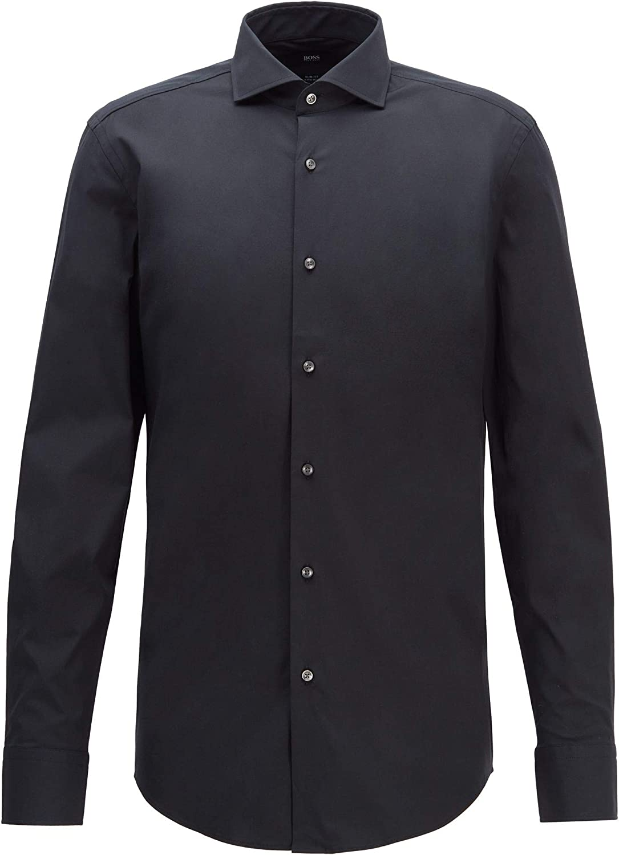 BOSS Camisa Jason Slim Fit de popelina de algodón elástico ...