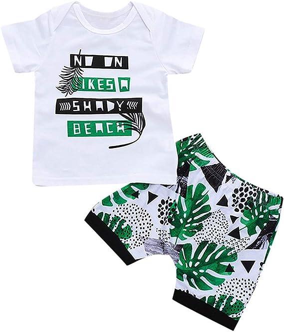 Ropa Conjuntos para bebé niño, Tops y Pantalones Cortos Camiseta ...